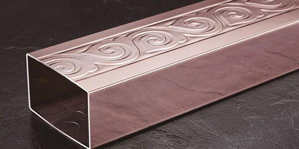 新型不锈钢管材玫瑰金不锈钢管应用案例