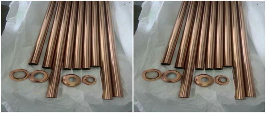 304玫瑰金不锈钢圆管